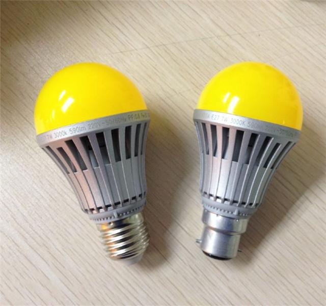 彩色球泡灯 黄灯罩
